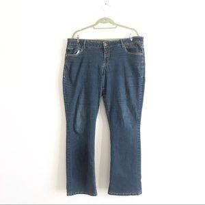 Torrid Denim Mid Rise Slim Bootcut Jeans Sz 20